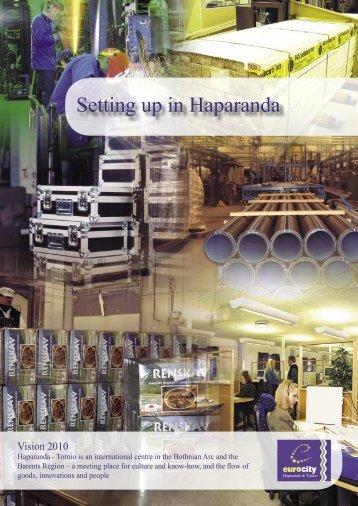 Setting up in Haparanda - Haparanda stad