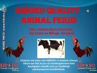 kiboko quality animal feeds - KIBOKO Animal Feeds and Millers