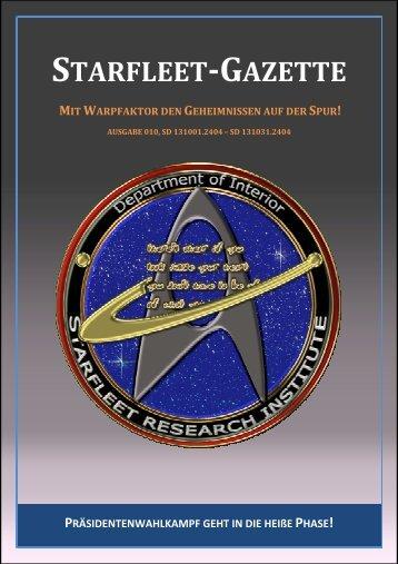 Starfleet-Gazette, Ausgabe 010 - Starfleet Online Blog