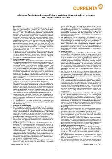 Allgemeine Geschäftsbedingungen (PDF / 109 KB) - Currenta