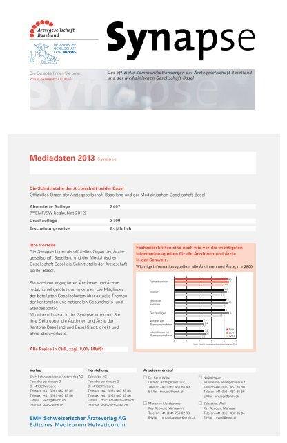 Mediadaten 2013 Synapse - EMH