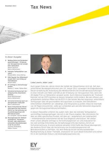 Tax News – Dezember 2013 - Schweiz