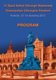 PROGRAM - Symposium Cracoviense, Kraków