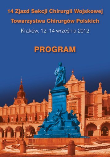 PROGRAM - Symposium Cracoviense, Kraków