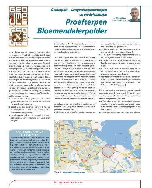 Proefterpen Bloemendalerpolder - GeoTechniek