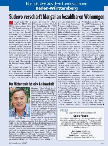MieterZeitung - Deutscher Mieterbund