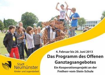 Das Programm des Offenen Ganztagsangebotes - Freiherr-vom ...