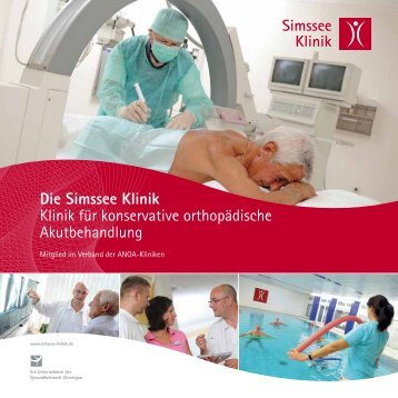 Flyer Konservative orthopädische Akutbehandlung - Simssee Klinik