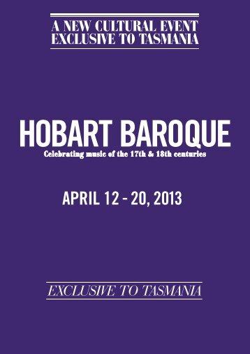 hobart baroque - Tasmanian Times