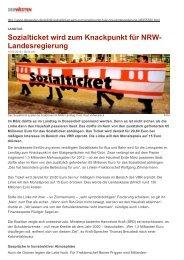 Sozialticket wird zum Knackpunkt für NRW ... - Rüdiger Sagel