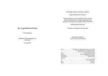 Der Augenblick des Gl ücks - Hackländer, Friedrich Wilhelm Ritter von