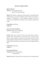 DISCIPLINAS OBRIGATÓRIAS BIOESTATÍSTICA ... - fcmmg.br