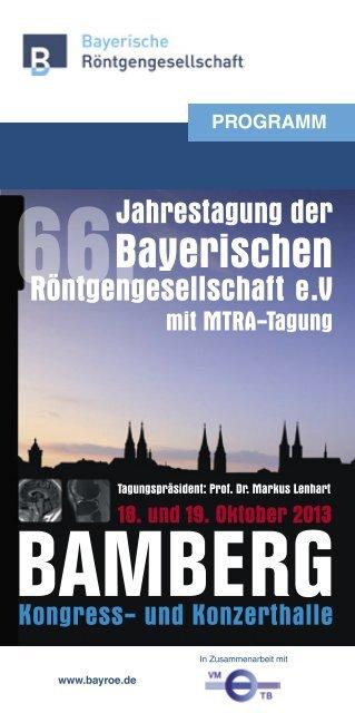 Programm der 66. Jahrestagung 2013 in Bamberg - bayroe.de