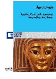 Broschüre - Lehrstuhl für Ägyptologie - Universität Würzburg