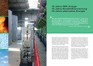 10 Jahre IMK Anlage 10 Jahre Bioabfallverwertung 10 Jahre ...