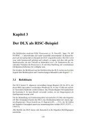 Kapitel 3 Der DLX als RISC-Beispiel