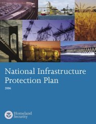 National Infrastructure Protection Plan - Homeland Security