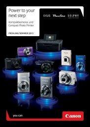 DSC / Kompaktkamera - Gesamtprospekt Kameras und ... - canon.de