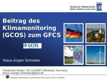 J. Schreiber (Deutscher Wetterdienst - DWD) - Deutsches Klimaportal