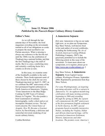 Issue 13, Winter 2006 - Special Collections - Virginia Tech