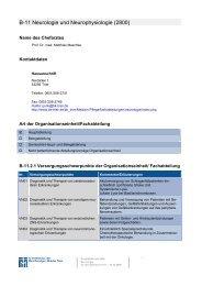 B-11 Neurologie und Neurophysiologie (2800)