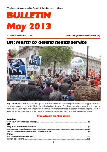BULLETIN May 2013 - Workers International