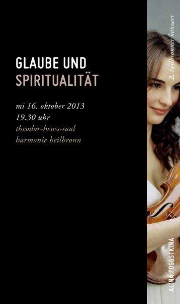 glAube und spirituAlität - Württembergisches Kammerorchester ...