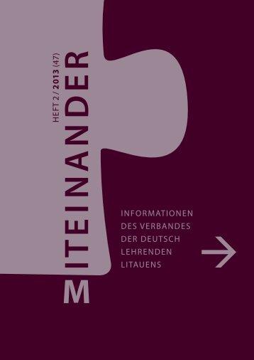 Miteinander - die aktuelle Nummer: Heft 2/2013 - Verband der ...
