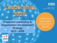 Proposed HEYH Leadership and OD Strategy 2013 – 2020