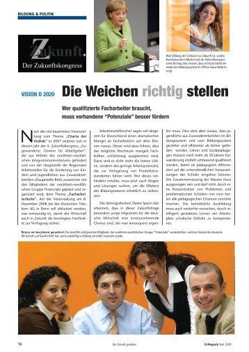 Die Weichen richtig stellen - Artikel aus dem Q ... - Potenziale NRW