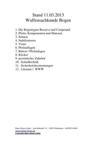 Fachwissen Bogen komplett - Nordwestdeutscher Schützenbund