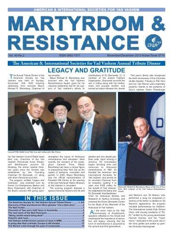 2 November/December - American Society for Yad Vashem