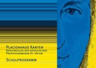 Placidahaus Xanten Schulprogramm