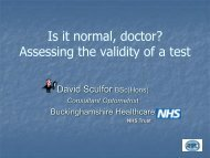 Is it normal Doctor? Assessing the validity of a test