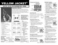 69008 Psychrometer Instructions (2005) - Yellow Jacket