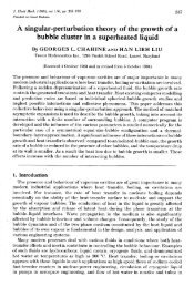 A singular-perturbation theory of the growth of a bubble cluster in a ...