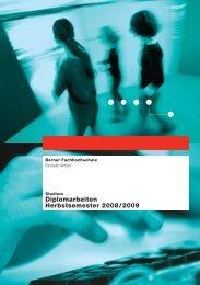 Diplomarbeiten Herbstsemester 2008 / 2009 - Wirtschaft - Berner ...