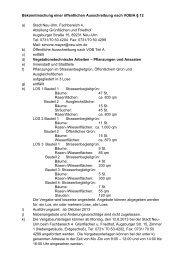 Bekanntmachung einer öffentlichen Ausschreibung ... - Stadt Neu-Ulm