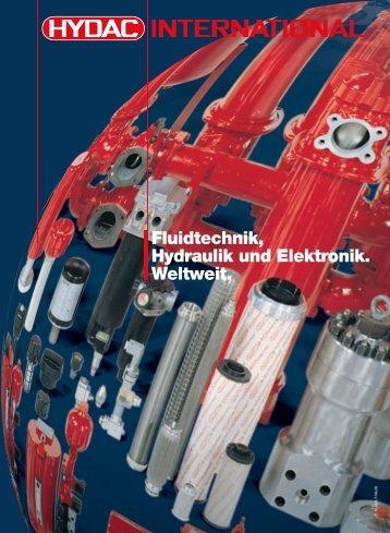 Fluidtechnik, Hydraulik und Elektronik.