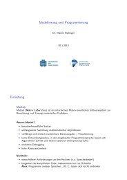 14. Vorlesung - Institut für Angewandte Mathematik