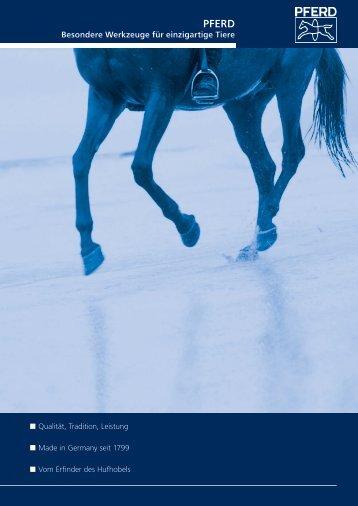 Prospekt 2010 - PFERD für Pferde