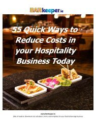 55 Quick Ways to Reduce Costs in your Hospitality Business Today