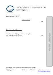 Amtliche Mitteilungen I Ausgabe 41 - Georg-August-Universität ...