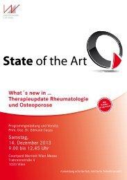 Therapieupdate Rheumatologie und Osteoporose - Medizin Akademie