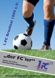 Stadionheft - 1. FC Bruchsal 1899