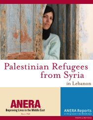Palestinian refugees from Syria in Lebanon - Anera