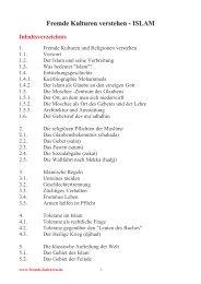 religionen islam - Fremde-kulturen.de