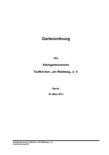 """am Waldweg"""" e. V. - Kleingartenverein Taufkirchen"""