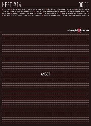 Heft #14 Angst - Schauspiel Hannover
