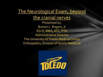 Learning Lab: The Neurological Exam, Beyond the Cranial Nerves